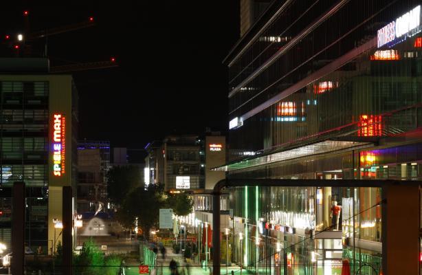 Altstadt, Architektur, Dresden, Nacht, Prager Straße