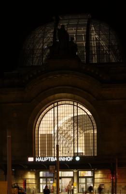 Altstadt, Architektur, Dresden, Hauptbahnhof, Nacht