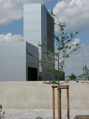 Aluminium, Architektur, Edelstahl, Feuerwache, Metall, Radebeul, Turm