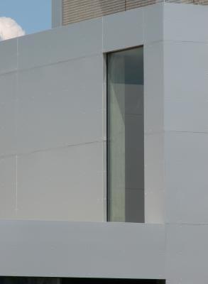 Aluminium, Architektur, Edelstahl, Feuerwache, Metall, Radebeul