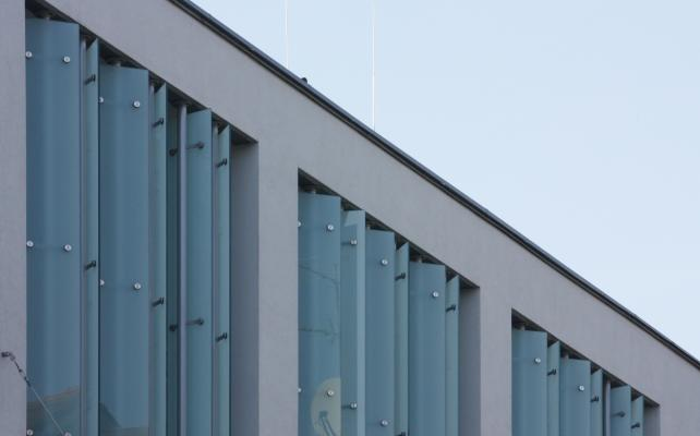 Architektur, Fassade, Glas, Görlitz, Milchglas, Oberlausitz, Schlesien