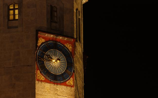 Altstadt, Architektur, Görlitz, Nacht, Oberlausitz, Rathausturm, Schlesien, Turm, Turmuhr