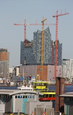 Elbphilharmonie, farbig, Hamburg, Herzog & de Meuron