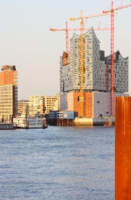 Abendsonne, Elbphilharmonie, Hamburg, Herzog & de Meuron