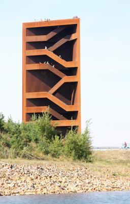 Architektur, iba, Kleinkoschen, Landmarke, Niederlausitz, Rost, rotbraun, Senftenberg, Sornoer-Kanal, Stahl, Turm