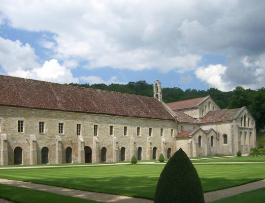 Abtei, Burgund, Fontenay, Frankreich