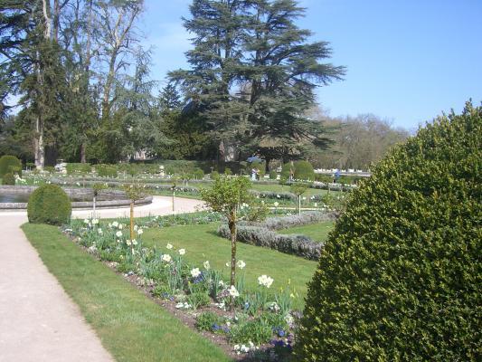 Chenonceaux, Frankreich, Garten, Indre-et-Loire, Schloss