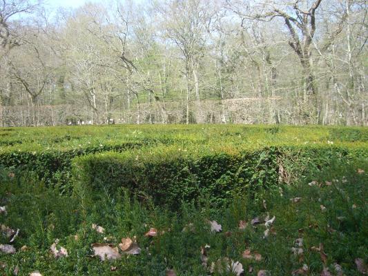Chenonceaux, Frankreich, Indre-et-Loire, Labyrinth, Schloss