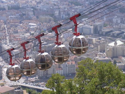 Ausblick, Bergbahn, Frankreich, Grenoble, Rhône-Alpes