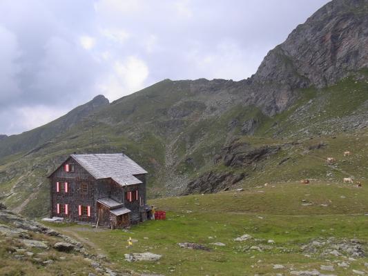 Alpen, Hugo-Gerbers-Hütte, Hütte, Kreuzeckgruppe, Österreich
