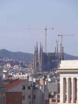 Ausblick, Barcelona, Barri Gotic, Kirche, Spanien