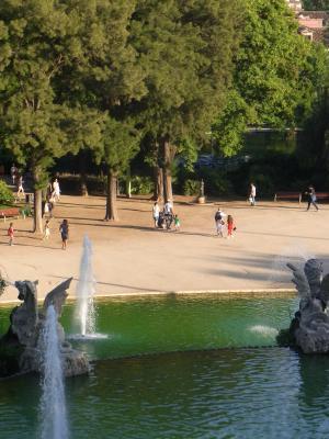 Barcelona, El Born, Park, Spanien