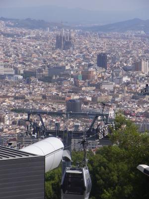 Ausblick, Barcelona, Montjuic, Spanien