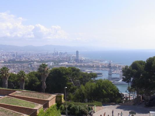 Ausblick, Barcelona, Burg, Montjuic, Spanien