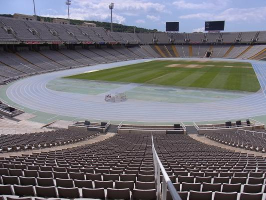 Barcelona, Montjuic, Spanien, Stadion