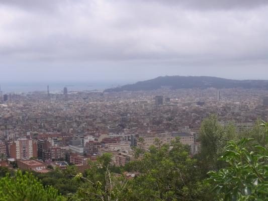 Ausblick, Barcelona, Park, Spanien