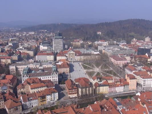 Ausblick, Ljubljana, Slowenien