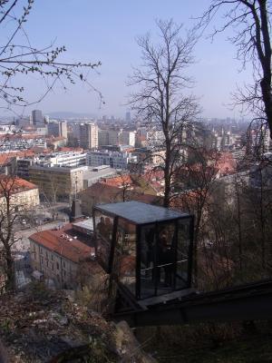 Bergbahn, Ljubljana, Slowenien