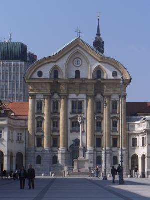 Kirche, Ljubljana, Slowenien