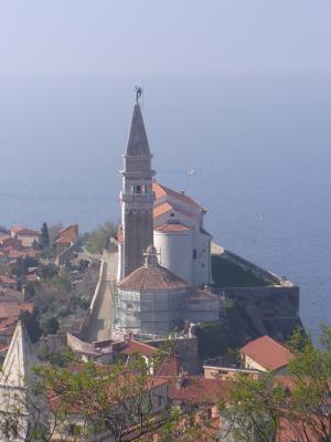 Ausblick, Kathedrale, Piran, Slowenien