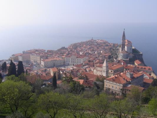 Ausblick, Piran, Slowenien