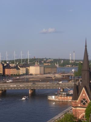 Ausblick, Gamla Stan, Schweden, Stockholm, Södermalm