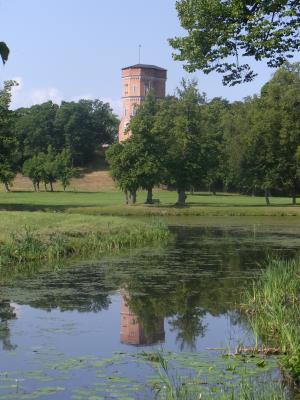 Drottningholm, Park, Schweden, Stockholm, Turm