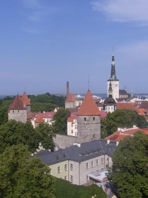 Ausblick, Estland, Stadtmauer, Tallinn