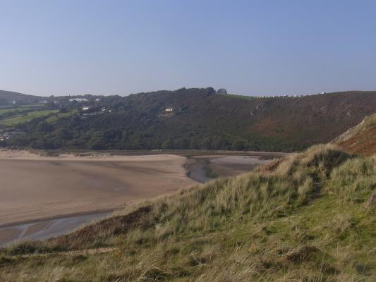 Großbritannien, Pennard, Three Cliffs Bay, Wales, Wales Coast Path