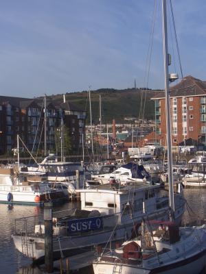Großbritannien, Hafen, Swansea, Wales