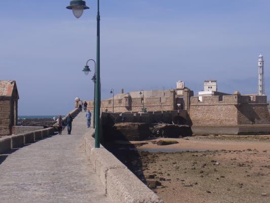 Andalusien, Cadiz, Kastell, Spanien