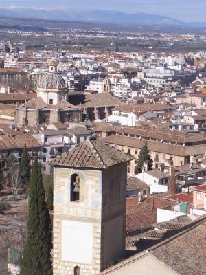 Andalusien, Ausblick, Granada, Kirche, Spanien