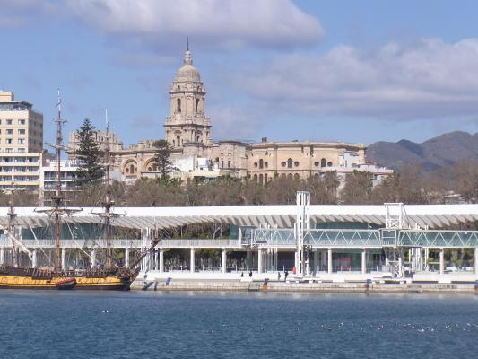 Andalusien, Hafen, Malaga, Spanien