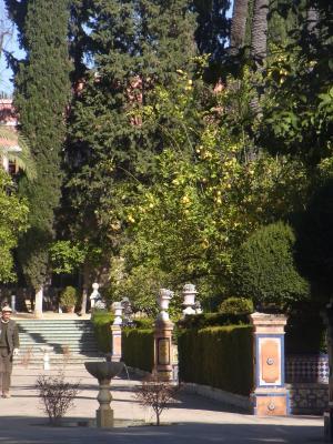 Andalusien, Park, Schloss, Sevilla, Spanien