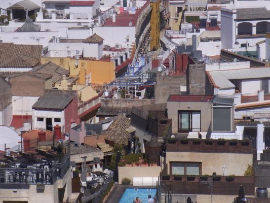 Andalusien, Ausblick, Kathedrale, Sevilla, Spanien
