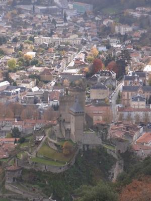 Foix, Frankreich, Midi-Pyrénées, Schloss