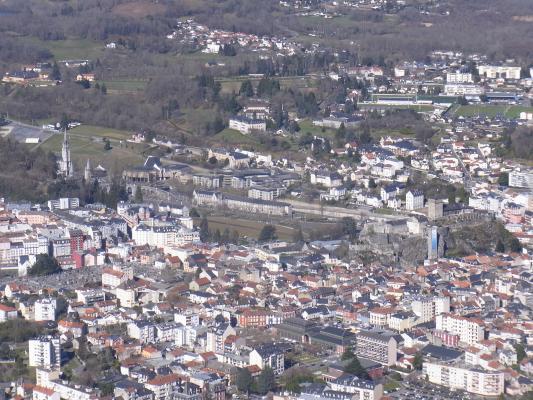 Frankreich, Lourdes, Pic du Jer, Pyrenäen