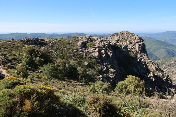 Columbieres-sur-Orb, Frankreich, Herault, Okzitanien
