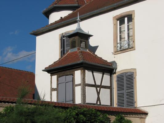 Architektur, Molsheim, Fachwerk, Urlaub, Elsass, Frankreich, Molsheim, Frankreich