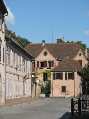 Architektur, Molsheim, Urlaub, Dreiseitenhof, Elsass, Frankreich, Molsheim, Frankreich