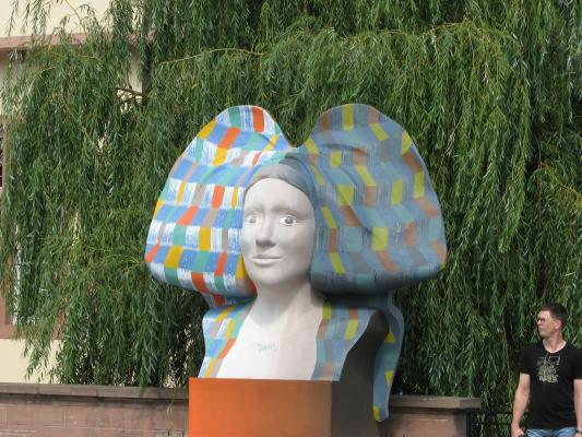Urlaub, Strasbourg, Architektur, Frankreich, Kunst, farbig, grafisch