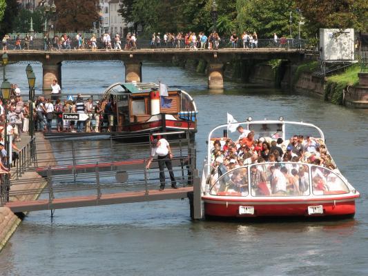 Urlaub, Strasbourg, Architektur, Frankreich, Menschen