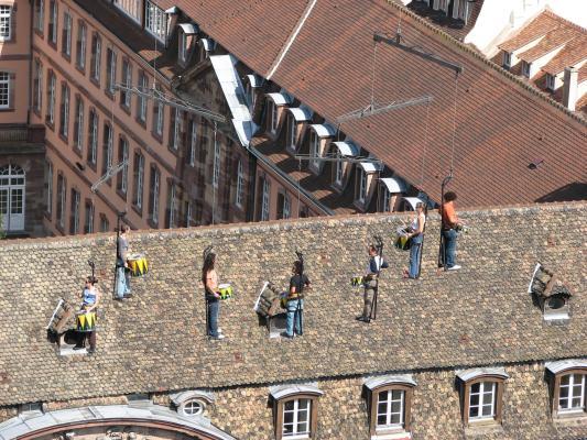 Urlaub, Strasbourg, Architektur, Frankreich, Kunst, Menschen
