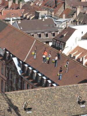 Architektur, Frankreich, Kunst, Menschen, Strasbourg