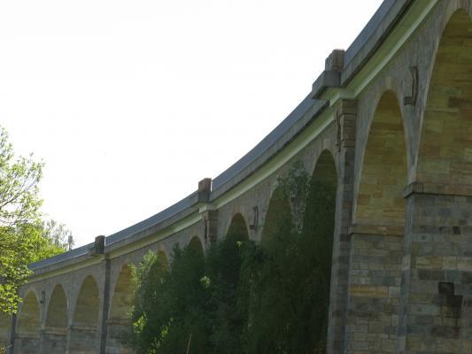 Architektur, Brücke, Eisenbahn, Oberlausitz, Schmölln - Putzkau, Viadukt