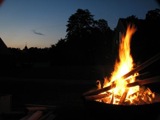 Feiern, Feuer, Kloster Altzella, Komilitonenfreffen, Nossen, SG5111, Sonnenwende