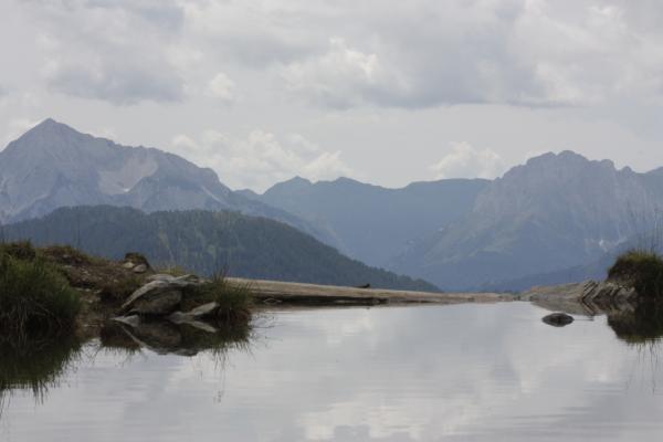 Alpen, Ansichtskarte, Berge, Bergsee, Drautal, Hohe Tauern, Irschen, Kreuzeckgruppe, Ochsneralm, Panorama, See, Urlaub, Österreich