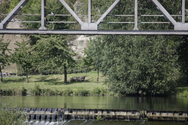 Architektur, Brücke, fahrradtour, Rochlitz, Wehr, Zwickauer Mulde