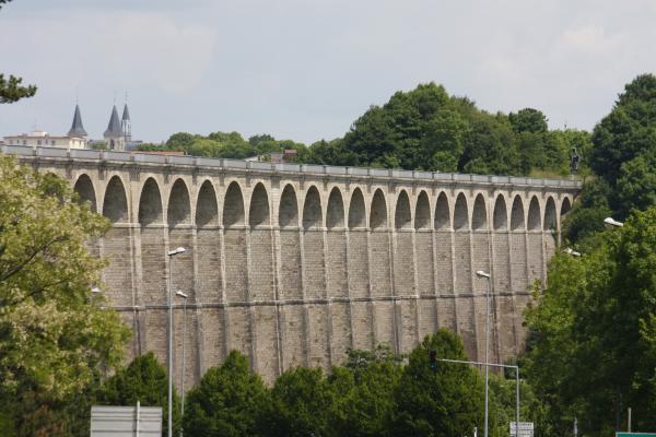 Brücke, Champagne, Chaumont, Eisenbahn, Frankreich, grafisch