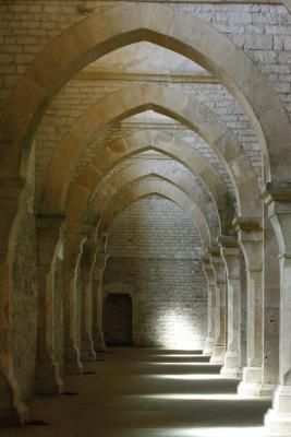 Abbe de Fontenay, Abtei, Burgund, Frankreich, grafisch, verwendet in|Kalender 2010